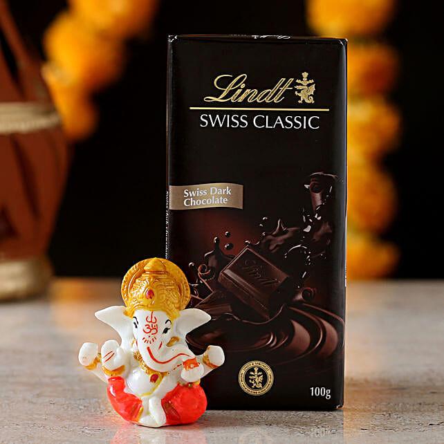ganesha statue with chocolate bar online