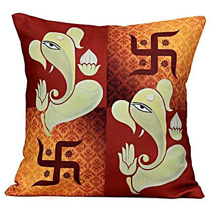 Lord Ganesha-Cushion is available 12X12 inches