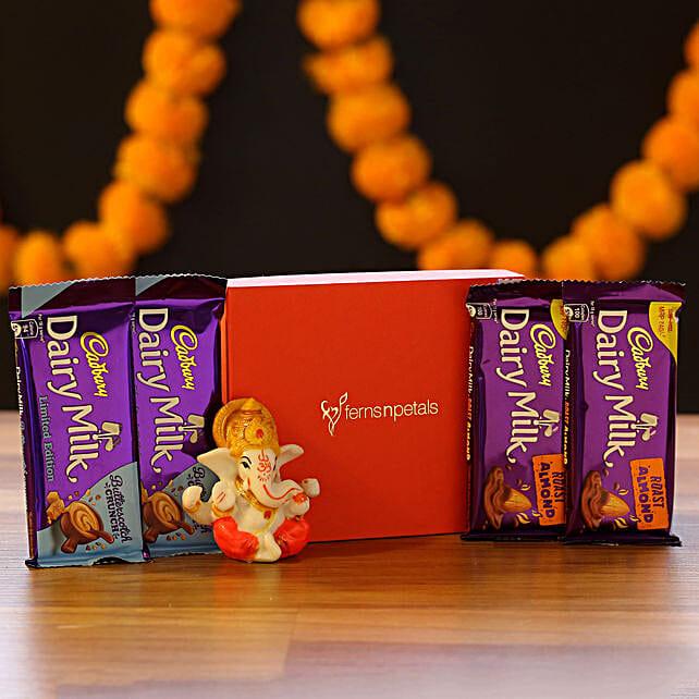 Lord Ganesha Idol & Chocolate Combo