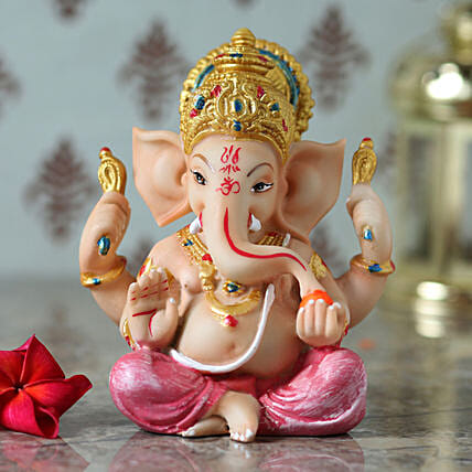 online lord ganesha idol:Send Home Decor for Diwali