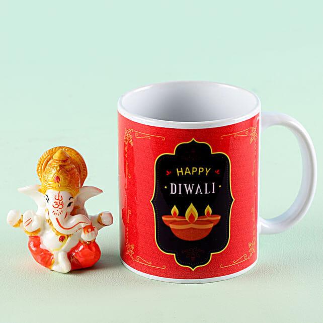 Online Lord Ganesha Idol With Mug