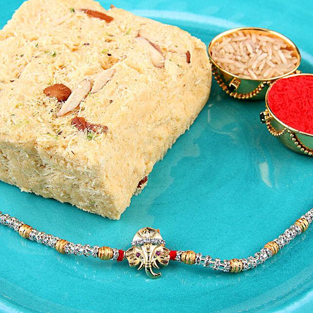 Lord Ganesha Rakhi Hamper