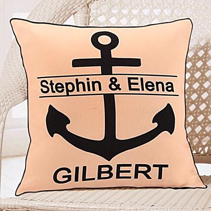 Love and Comfort For Couple-Peach Color Personalized Cushion 12x12 inches