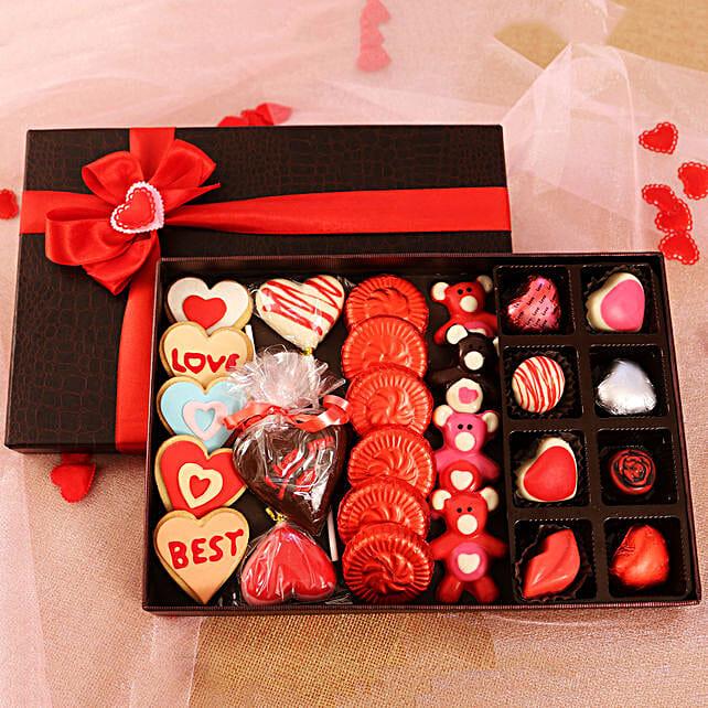 online valentine shape chocolates