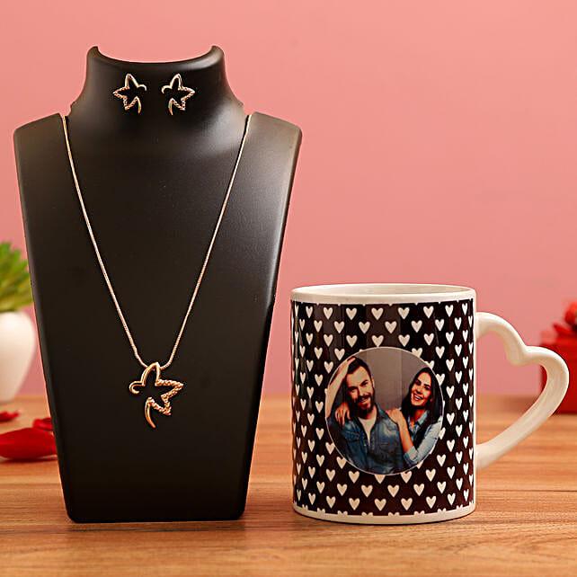 jewellery with heart handle mug for vday
