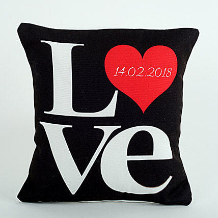 Black Printed Cushion