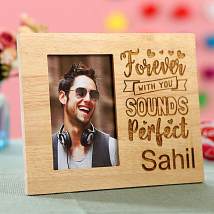 wooden photo frame with engrave messages for her