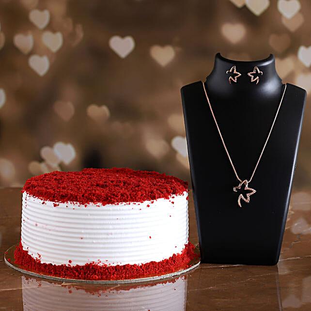 Love Inspired Red Velvet Cake Pretty Necklace Set
