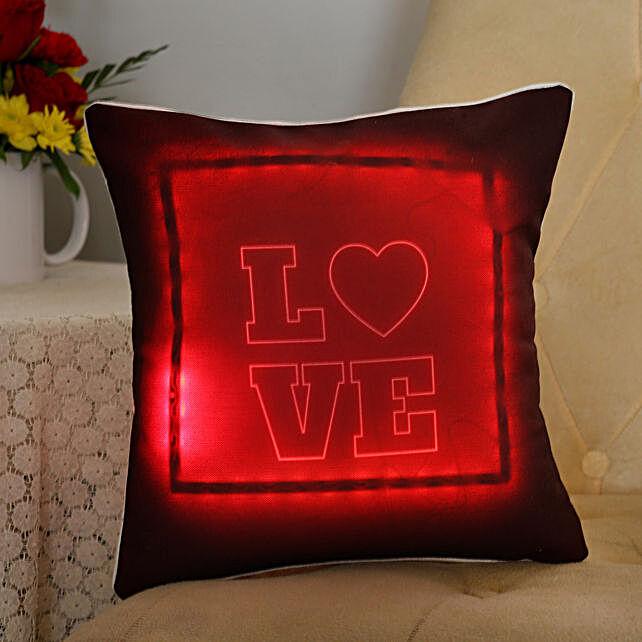 love printed led cushion for valentine