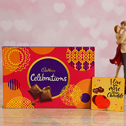 Forever Love Table Top & Chocolate Box for Husband