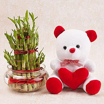 Soft Toy with Lucky Plant