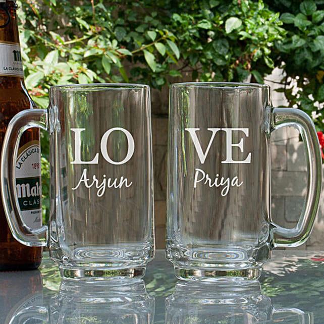 Love Personalised Beer Mugs Online