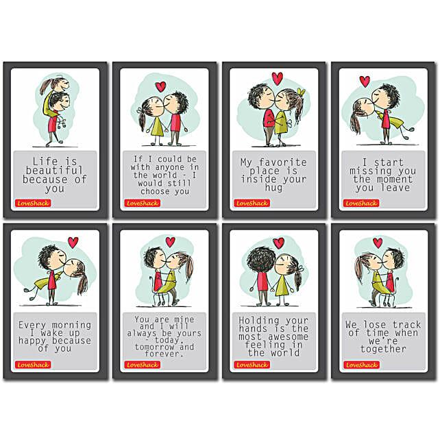 set of love postcards online