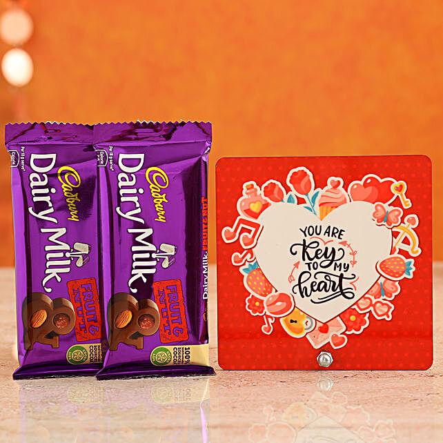 Buy Love Quote Printed Table Top:Buy Cadbury Chocolates