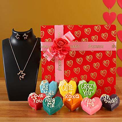 Online Love Special Heart Chocolates Combo