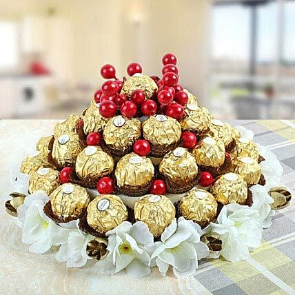 Love That Soothes Nerves-3-Tier tower ,35 pieces ferrero Rocher chocolate
