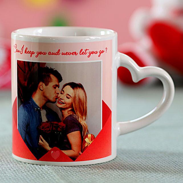 heart shape coffee mug handle for v-day
