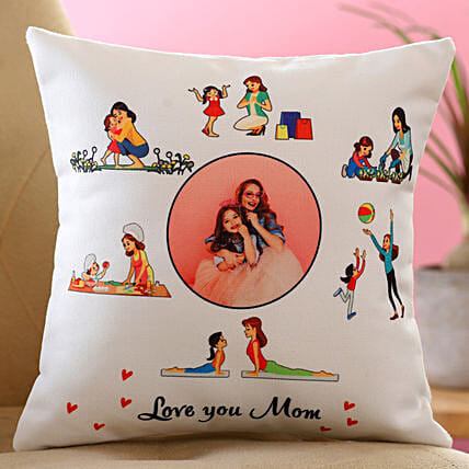 Love You Mom Personalised Cushion