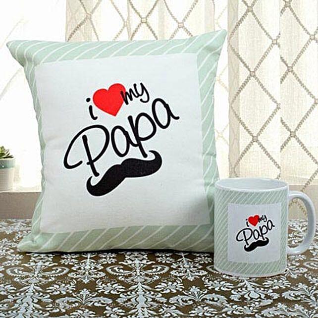 Cool Father's Day Gifts – Printed cushion & Mug
