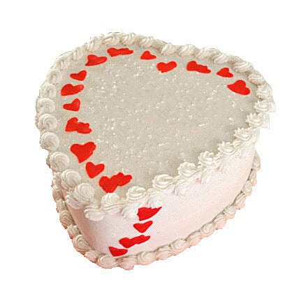 Lovely Heart Shape Cake Half kg
