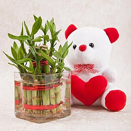 Soft Toy with Bamboo Plant