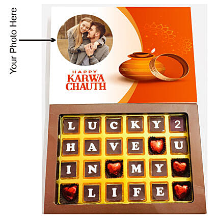 Lucky to Have You Personalised Chocolates 24 Pcs