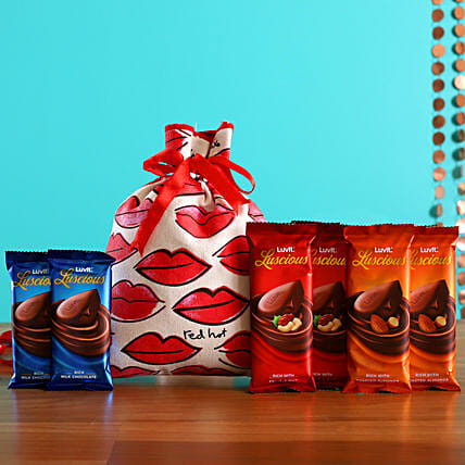 Luxury Luvit Chocolates In Kiss Potli Online