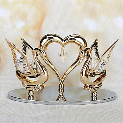 Swarovski swans and heart