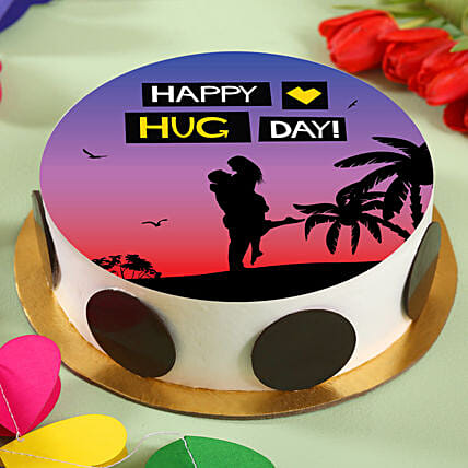 Magical Hug Pineapple Photo Cake:Send Gifts for Hug Day