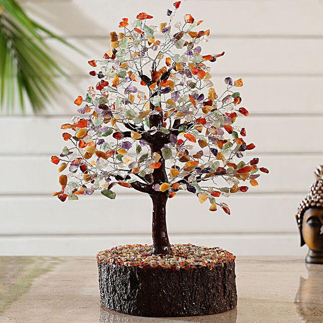 Majestic 5 Stones Multicoloured Wish Tree