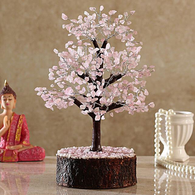 Majestic Rose Quartz Wish Tree