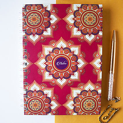 Mandala Notebook Fuchsia:Stationery Gifts