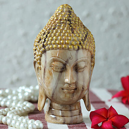 exclusive marble finish buddha idol