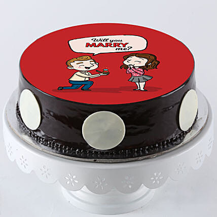 valentine's day cake online:Propose Day Cakes