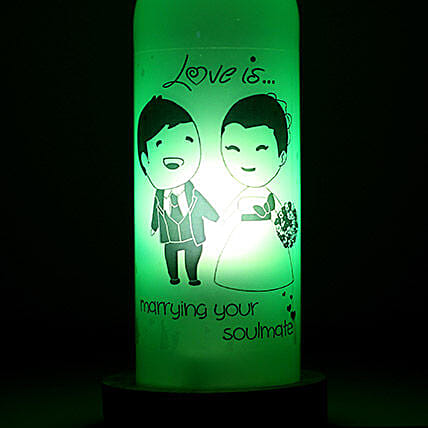 Marrying Your Soulmate Lamp-1 love is marrying you soulmate bottle lamp:Send Led Bottle Lamp