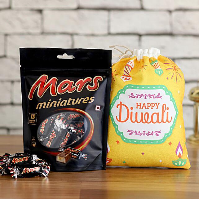 Happy Diwali Poli with Mars Mini Bars:Diwali Gifts for Kids