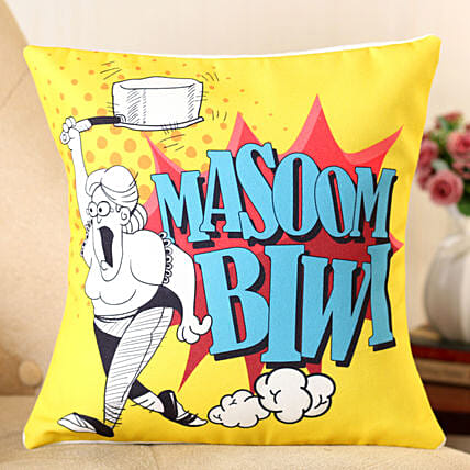 funny text printed cushion for her:Buy Cushions