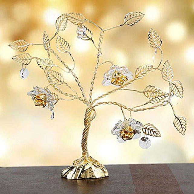 Swarovski tree with triple flowers