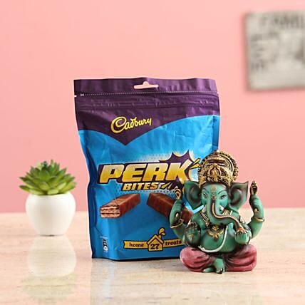 Online Ganesha Idol And Perk Treats Combo