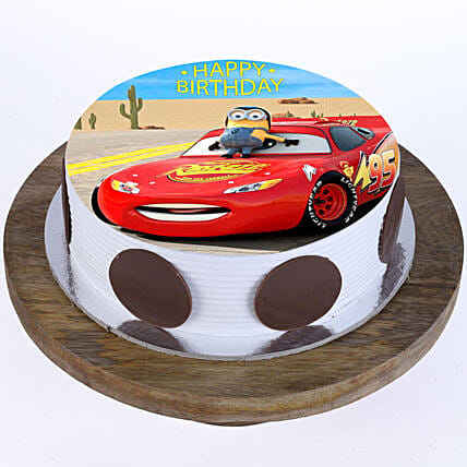cars cartoon cake for kid