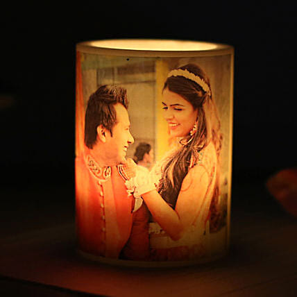 Me and You Personalized Candle-1 personalized candle:Gift Delivery in Betul
