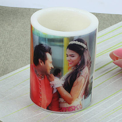 Me and You Personalized Candle-1 personalized candle:Gift Delivery in Lakhimpur Kheri