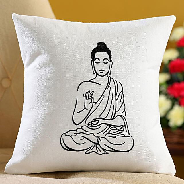 buddha embroidered cushion online