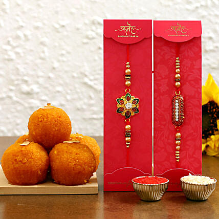 online rakhis with laddu