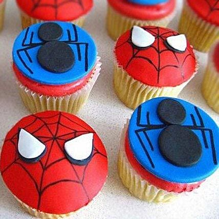 Spiders Fondant Cupcake 6:Spiderman Birthday Cakes