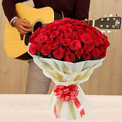 Online Musical Combo With Red Roses
