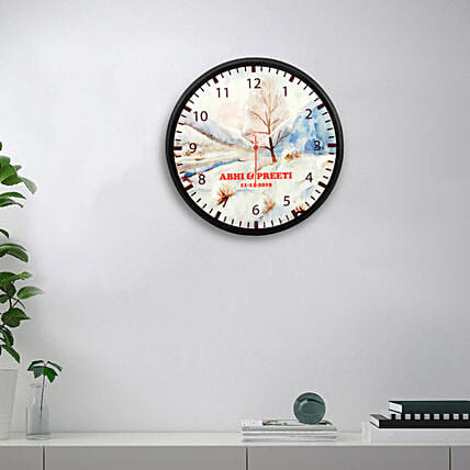 printed wall clock for anniversary couple online