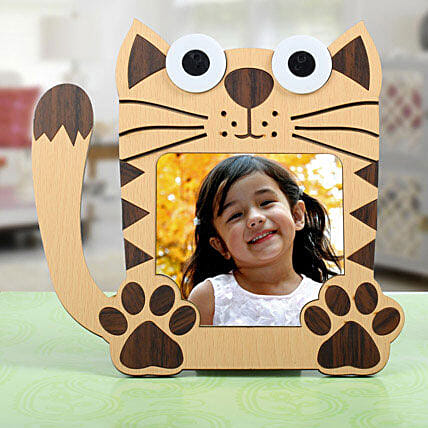 Cat Personalized Photo Frame for Kids