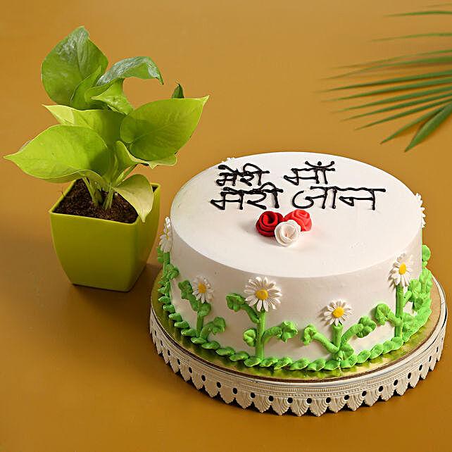 Meri Maa Meri Jaan Cake Money Plant Combo