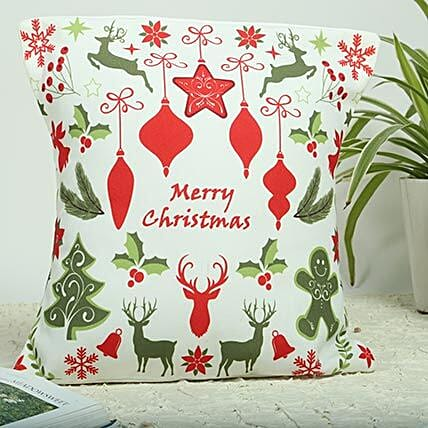 Christmas Cushion (with Canvas Poly Duck fabric)